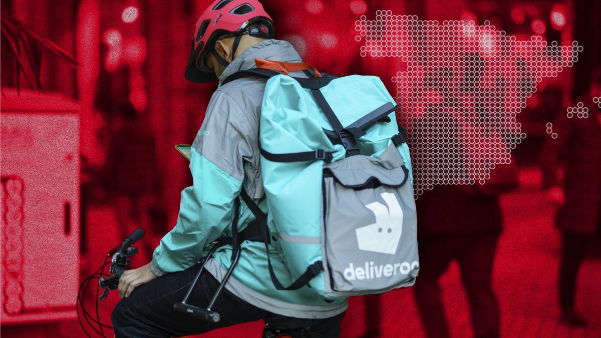 Trabajador de Deliveroo
