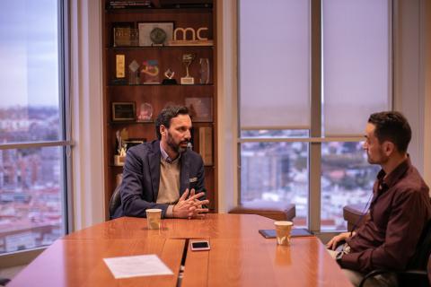Norberto Mateos, director de Negocio Empresarial para EMEA y responsable de Intel España y Manuel del Campo, CEO de Axel Springer España