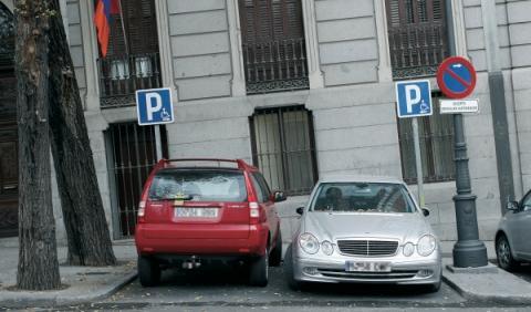 plaza de aparcamiento para un discapacitado en Madrid