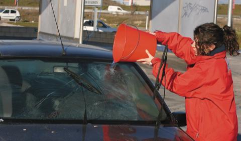 enfriar coche verano lavar