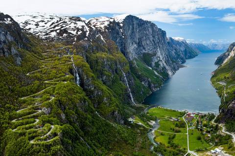 Fiordo en Noruega.