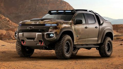 Chevrolet Colorado ZH2 FCEV delantera
