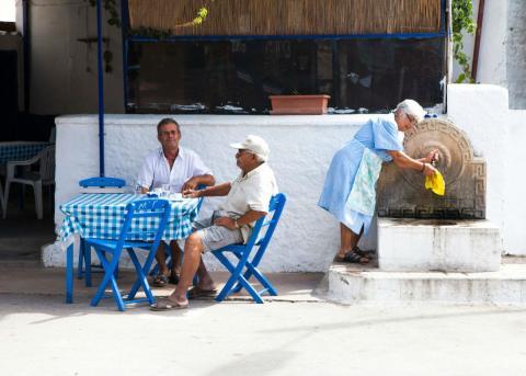Estampa callejera en Grecia