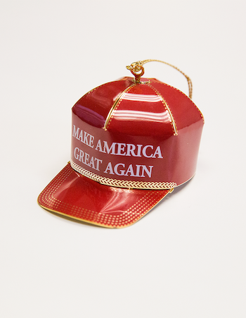 Adorno navideño de Donald Trump