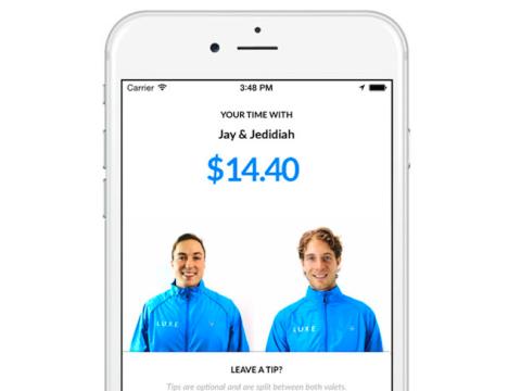 El app de Luxe ofrecía servicio de aparcacoches on demand