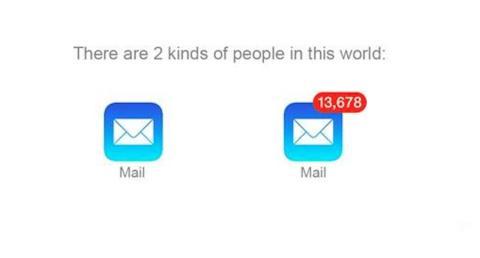 Hay dos tipos de persona en el mundo, los que abren todos los correos y los que tienen cientos sin abrir