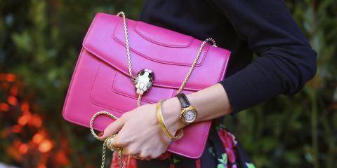 Bolso caro y rosa