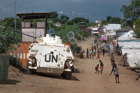Campo de refugiados tutelado por la ONU en Sudán del Sur