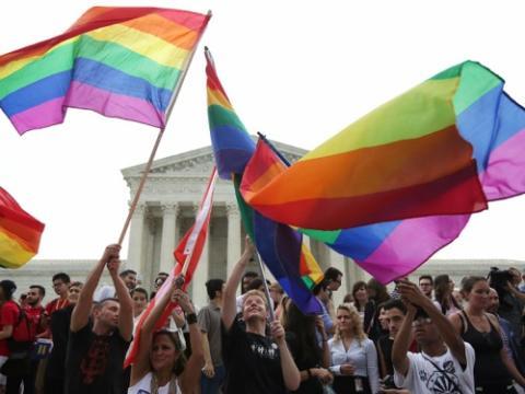 Celebración de la legalización del matrimonio homosexual en Estados Unidos