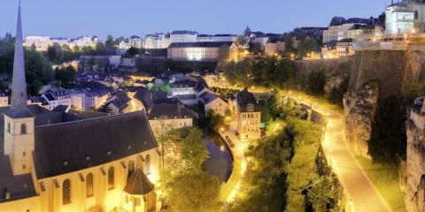 Ciudad de Luxemburgo, de noche