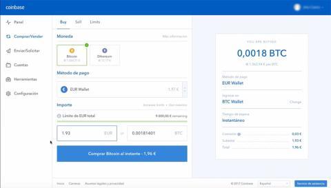 Coinbase comprar bitcoin