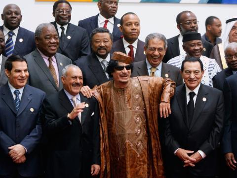 Los cuatro principales líderes árabes meses antes de la primavera árabe