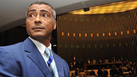 Romário ha estado en el Congreso de Brasil y ahora es senador