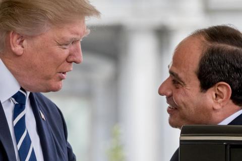Donald Trump, con Abdel Fattah Al-Sisi, presidente de Egipto