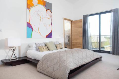 Dormitorio Casa Habitat Lago Spinney