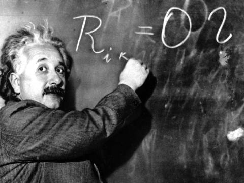 Einstein-Pizarra-Qué significa el trabajo