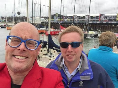 arc van der Chijs y Vincent Everts en la Volvo Ocean Race.