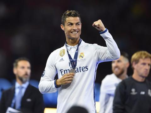 Cristiano Ronaldo celebra la victoria frente a la Juve