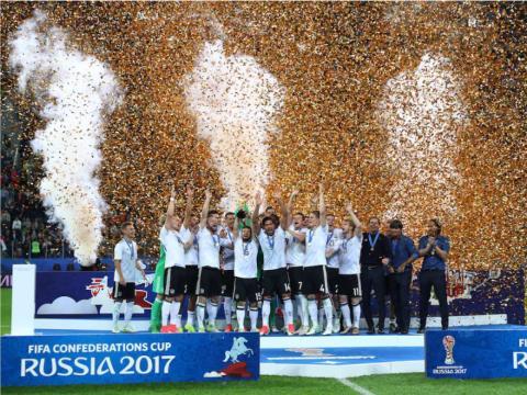 Alemania celebra la victoria en la Copa de Confederaciones