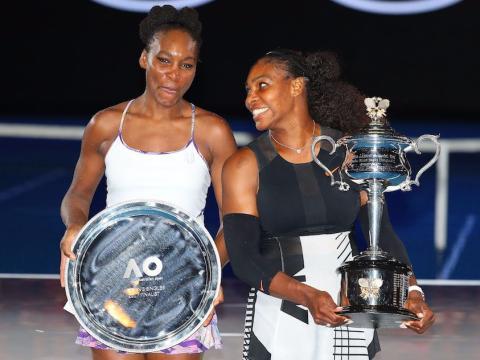 Serena y Venus Williams en la final del Open de Australia