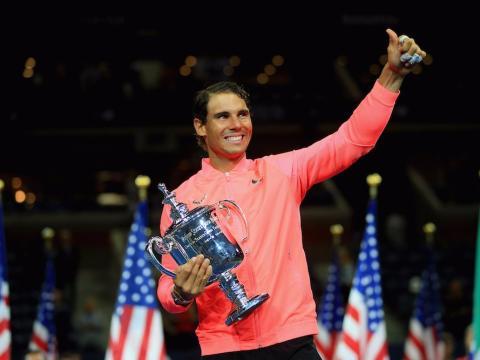 Rafa Nadal celebra la victoria en el U.S. Open
