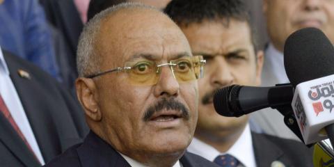 Ex presidente de Yemen Ali Abdullah Saleh