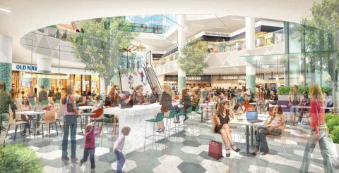 Propuesta para el rediseño de la zona de restauración del centro comercial Burbank Town en California (EE. UU.)