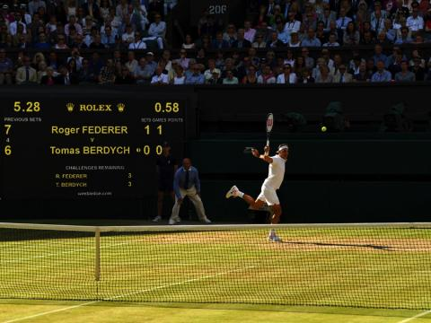 fotos deporte 2017: ¿Quién es más suave que Roger Federer?