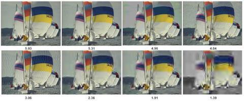 Comparativa de la calidad de una misma imagen procesada con IA