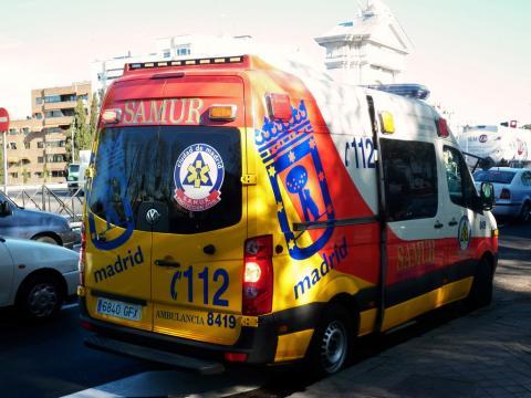 Furgoneta del Samur en Madrid