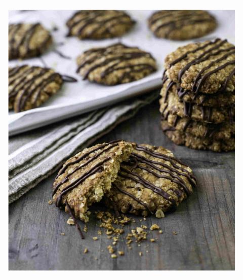 galletas de avena y chocolate veganas