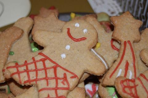 Galletas navideñas de jengibre.