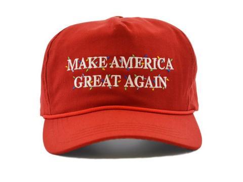 Gorra navideña de Donald Trump