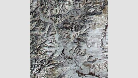 La gran muralla china vista desde un satélite