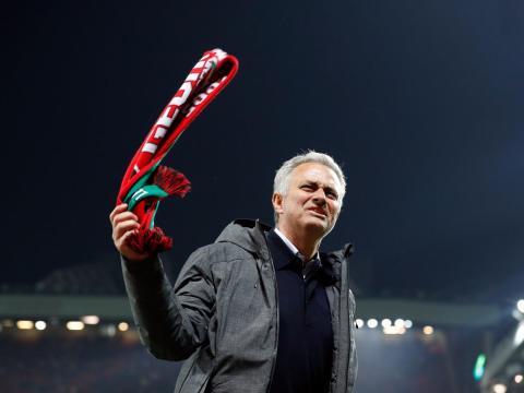 José Mourinho, entrenador del Manchester United.