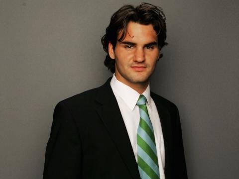 Jugador de tenis Roger Federer.