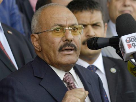 El antiguo presidente de Yemen Ali Abdullah Saleh