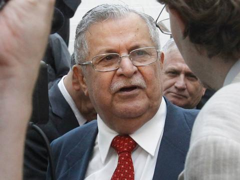 El presidente de Iraq Jalal Talabani