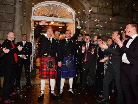 Matrimonio homosexual Escocia