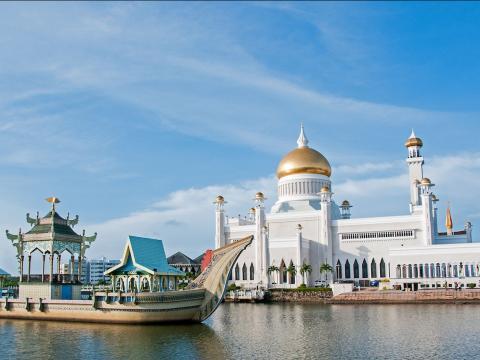 Mezquita del Sultán Omar Alí, en Brunéi.