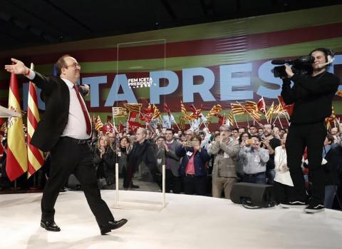 Miquel Iceta en campaña a las elecciones del 21D