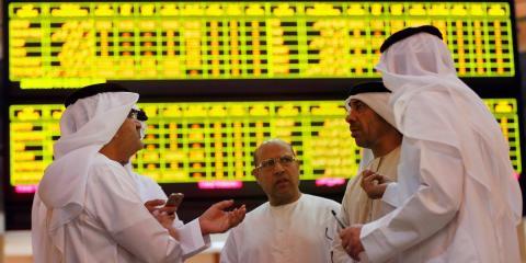 Negociando en la bolsa de Abu Dhabi