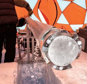 Núcleo de hielo antártico recuperado en Allan Hills
