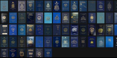 Pasaportes de Reino Unido con el diseño antiguo