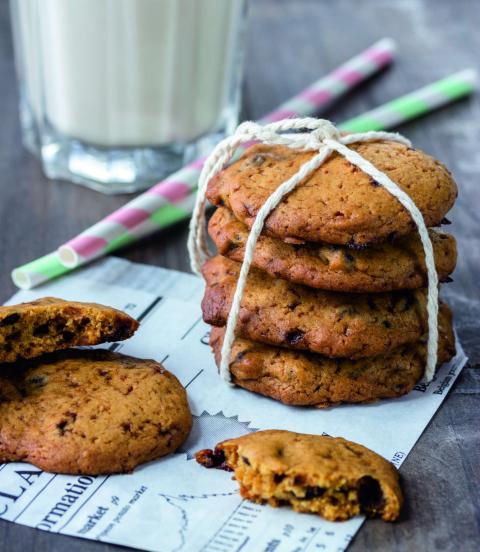 postre cookie chips de chocolate VEGANAS