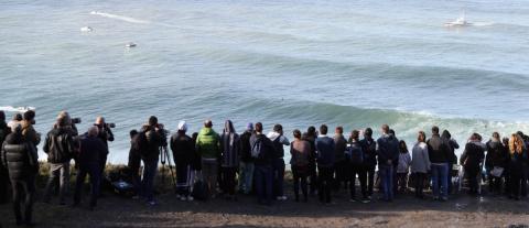 Decenas de aficionados y medios siguen la XII edición del Punta Galea Challenge