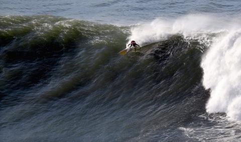 Las olas más altas rozaron los siete metros
