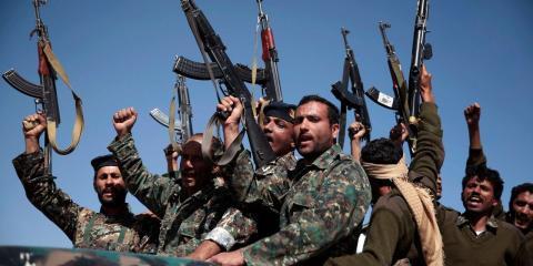 Rebeldes Hutíes en el conflicto militar en Yemen