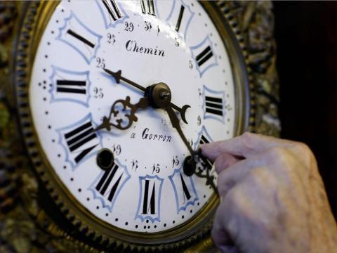 Reloj antiguo: quizá no sea el mejor momento en el trabajo