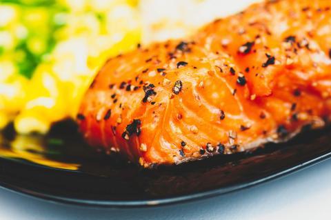 salmon receta navidad facil sencilla